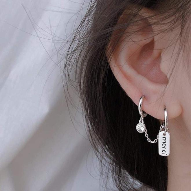 925 Sterling Silver Double Hoops Huggie Wrap Earrings