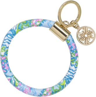 Lilly Pulitzer Leatherette Key Ring