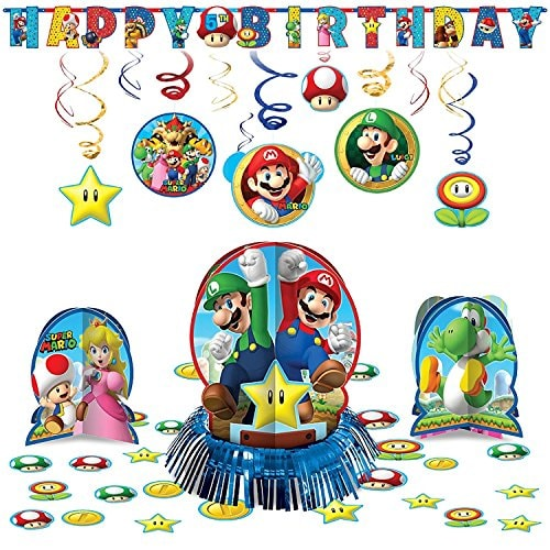 Amscan Super Mario Decoration Pack Kit