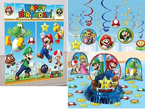 Super Mario Bros. Party Decoration Bundle
