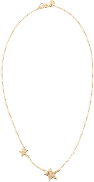 gorjana Super Star Gold-Tone Double-Star Necklace, 17""