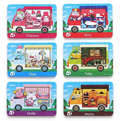 For Animal Crossing New Horizons ACNH Sanrio Collaboration Pack Mini card, 6 pcs RV Villager Furnitu