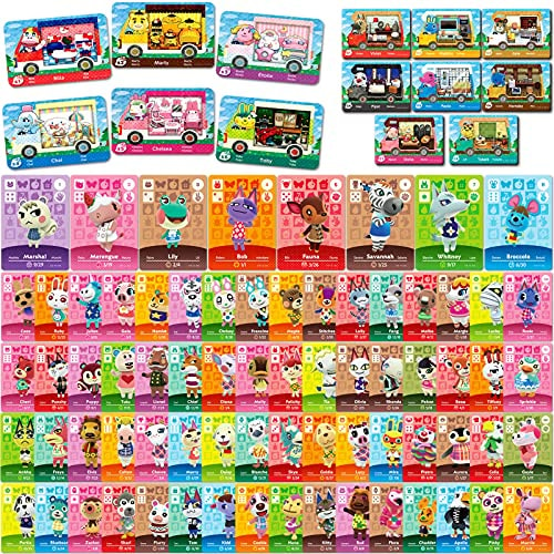 86 Pcs NFC Mini Cards Pack for Animal Crossing New Horizons Series 1-4 for Switch/Switch Lite/Wii U