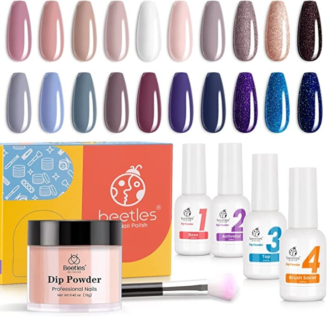 Beetles 20 Colors Fall Festival Collection Nail Dip Powder with 4 Dip Liquids