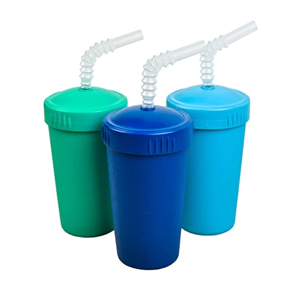 Re-Play Made in USA 3pk Straw Cups with Reversable Straw