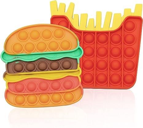 Push Pop Fidget Toy Burger 'n' Fries