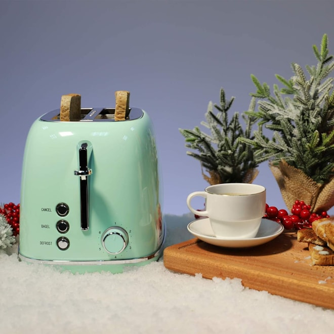 Retro Two Slice Toaster Pastel Green