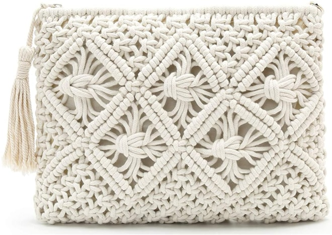 Summer Clutch Knitted Vintage Handwoven Beach Bag