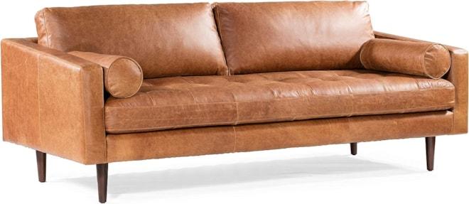 Full-Grain Italian Leather Sofa