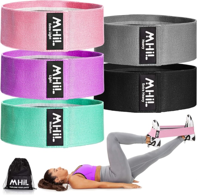 Thick Elastic Fabric Workout Bands