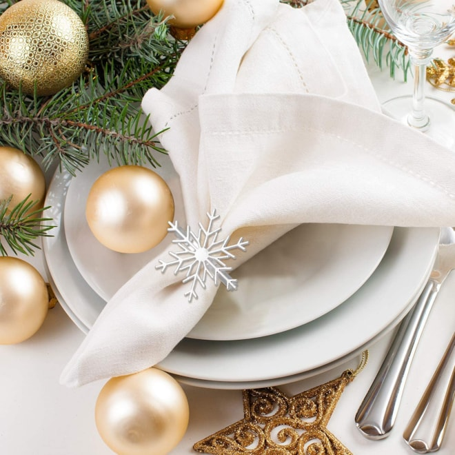 Metal Snowflake Napkin Ring