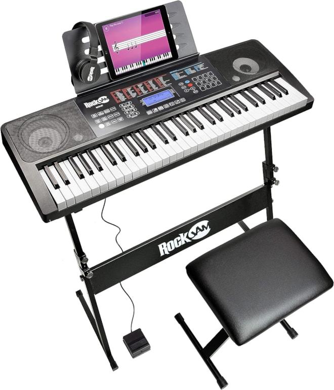 RockJam Electronic Interactive Teaching Piano Keyboard Kit