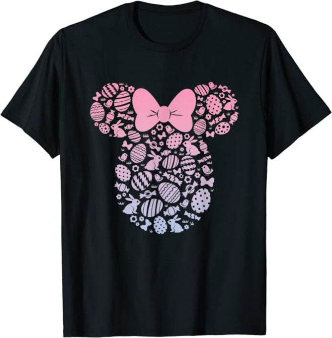 Disney Minnie Mouse Pink Gradient Easter Egg T-Shirt