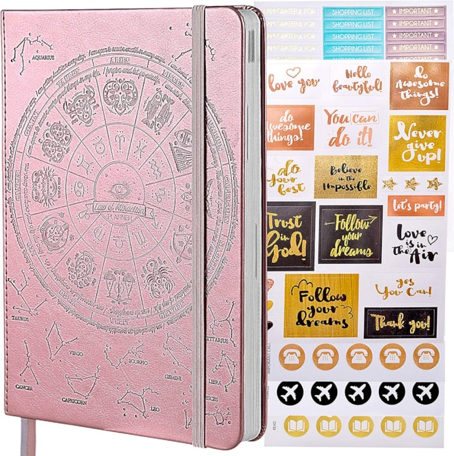 Law of Attraction Planner - A5 2022 Deluxe Weekly, Monthly Planner,