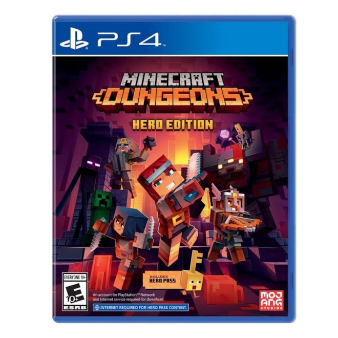 Used: Minecraft Dungeons Hero Edition   PlayStation 4