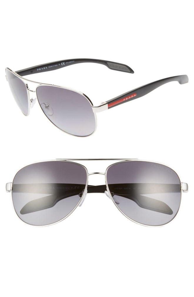 Prada Polarized Aviator Sunglasses