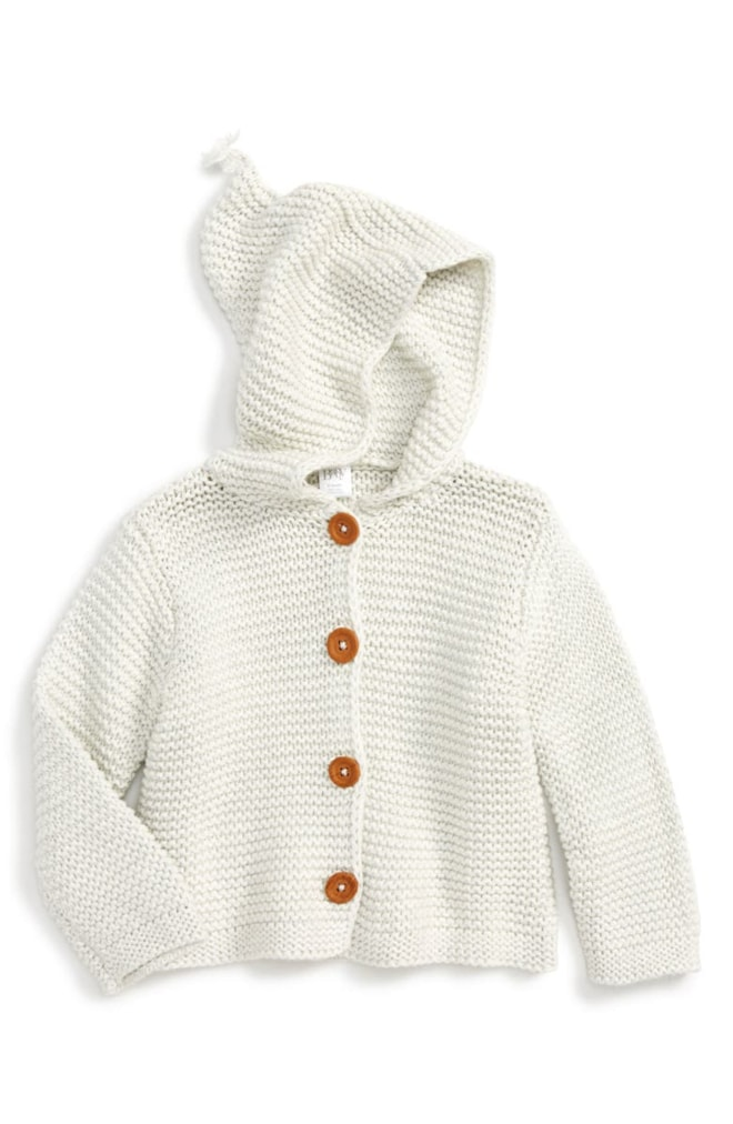 Organic Cotton Hooded Cardigan (Baby)