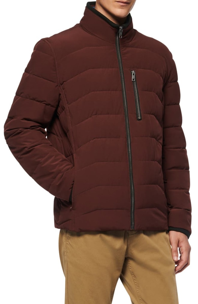 Water Resistant Quilted Puffer Jacket