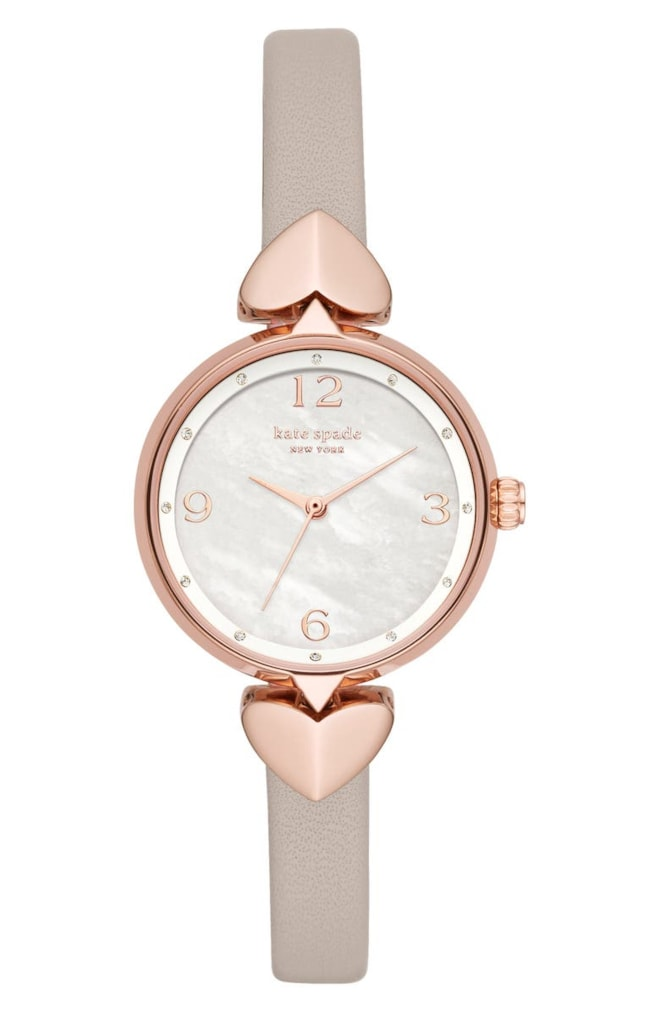 kate spade new york hollis leather strap watch, 30mm | Nordstrom