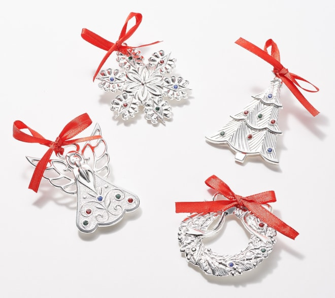 Lenox Mini Silver Plated Ornament Set