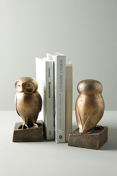 Wise Owl Book Ends
