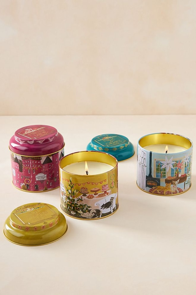 Holiday Tin Candle - Assorted