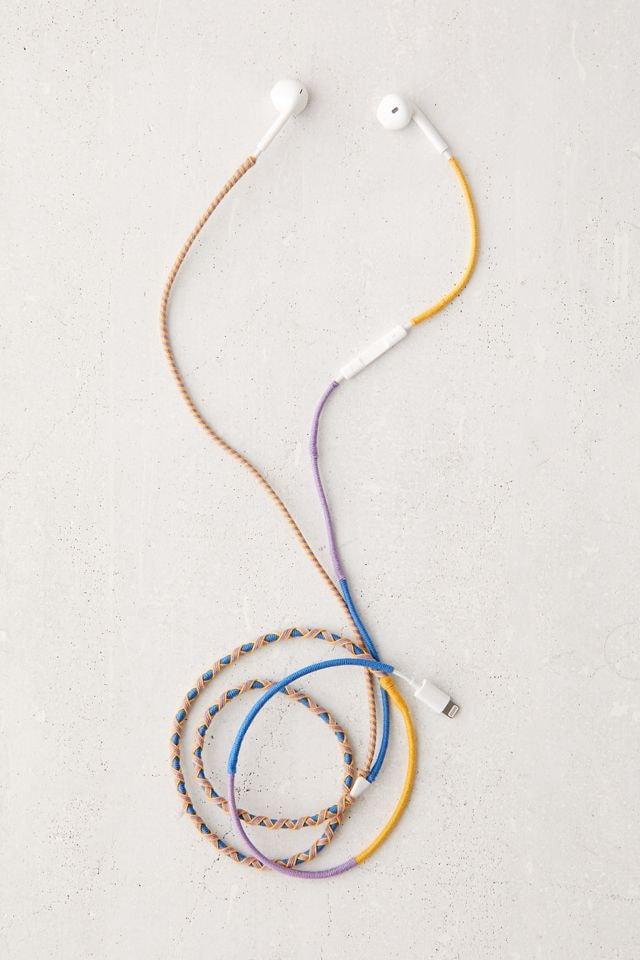 Wrapped Rope Lightning Port Earbud Headphones