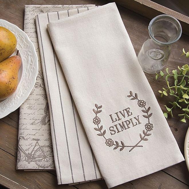 """""""Live Simply"""" Tea Towels"""