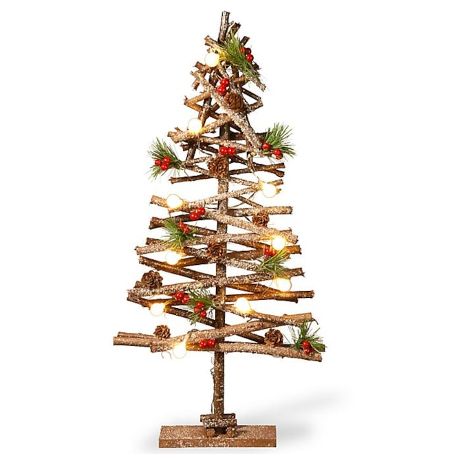 Rustic Wood 2D Holiday Tree