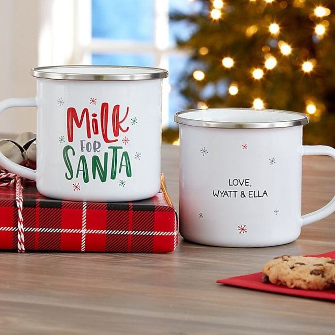 Milk for Santa Personalized Christmas Mug