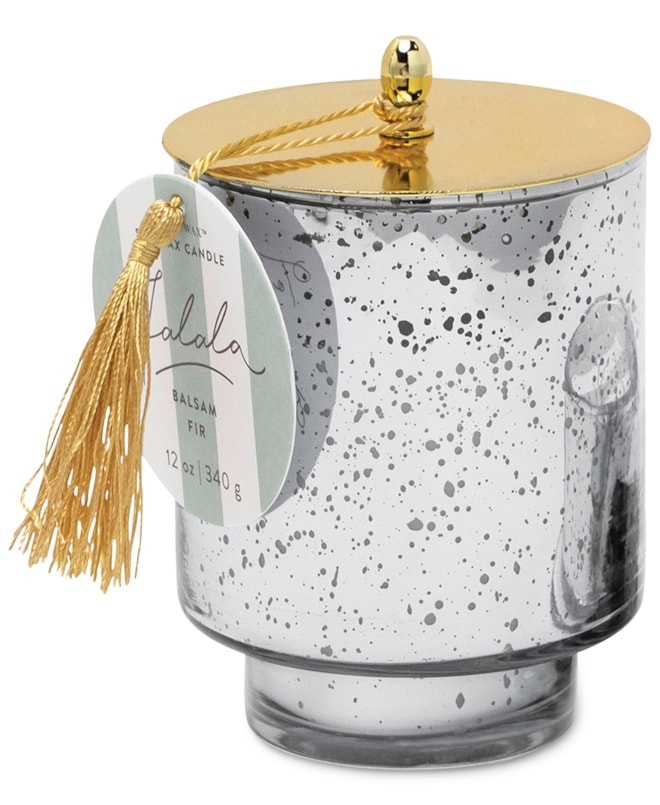 Paddywax Silver Mercury Glass Candle with Tassle